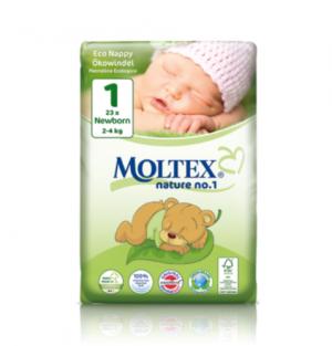 Mähkmed Moltex Nature Newborn Nr1 (2-4kg) 23tk