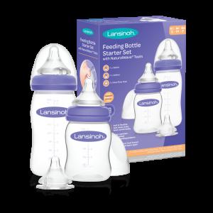 Lansinoh ® komplekt pudelid (160ml ja 240ml) ja toitmislutid (S/M/F)