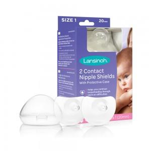 Lansinoh® Contact rinnanibukaitsmed (20mm / 24mm) SUURUS 1